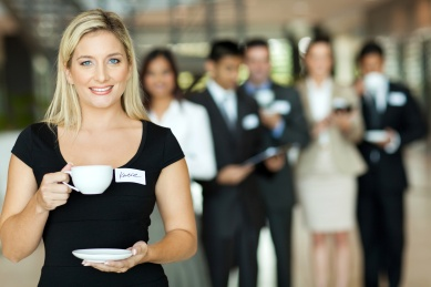young businesswoman coffee break